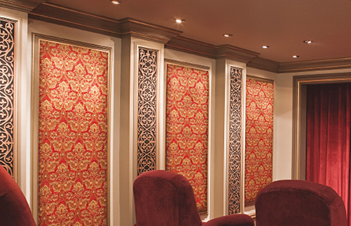 Fabric Sound Panels : Acoustic wall panels home theater noise control