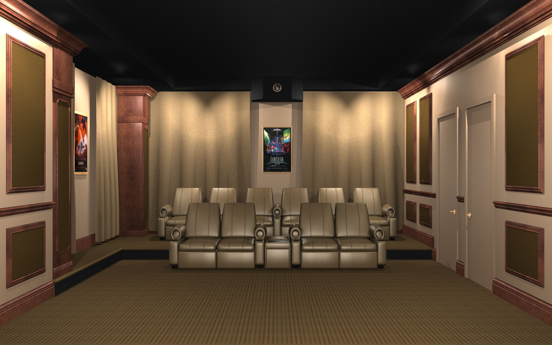 Home Theater Wall Panels acoustic wall panels - home theater noise control